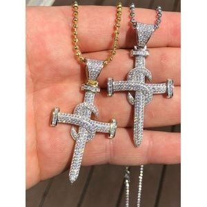 "Harlembling Men Nail Cross LARGE 2"" Pendant"